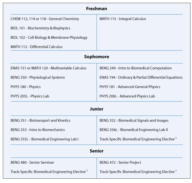 Math what college subjects are needed to study biomedical engineering